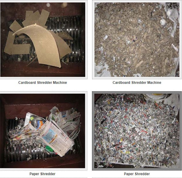 paper shredder, cardboard shredder, carton shredder