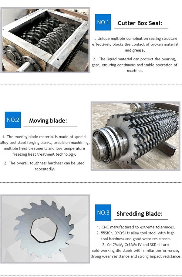 tyre shredding machine blades
