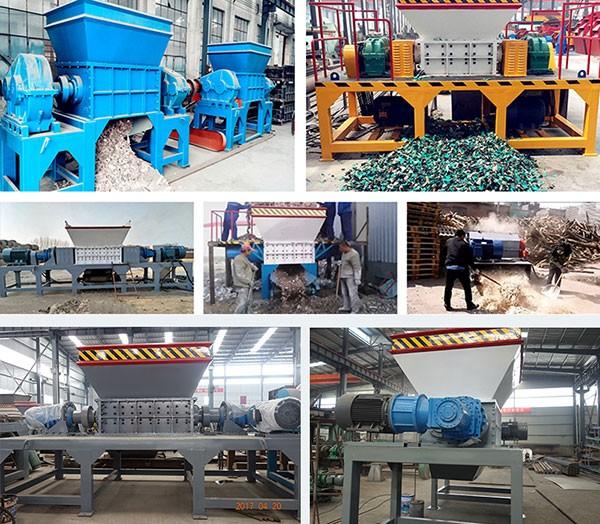 domestic waste shredder, industrial shredder working site