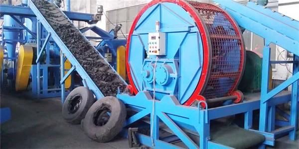 tire shredder, tire recycling machine